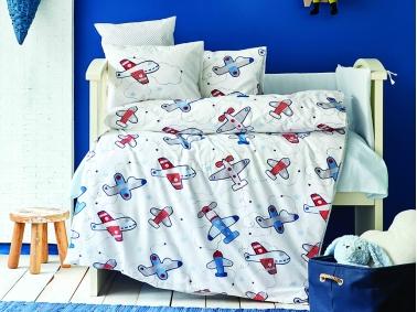 10 Pieces Airship Cotton Baby Sleep Set 100 x 150 cm - Blue