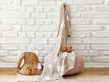 Baby Star Baby Blanket 80 x 120 cm - Beige