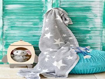 Baby Star Baby Blanket 80 x 120 cm - Grey
