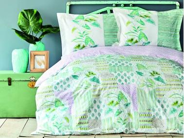 3 Pieces Camelia Single Duvet Cover Set 160 x 220 cm - Green