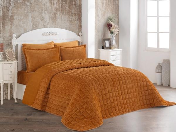 3 Pieces Winter Boss Soft Double Bedspread Set 240 x 260 cm - Desert Color
