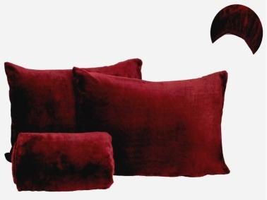 2 Pieces Welsoft Single Bed Sheet Set 120 x 200 cm + 30 cm - Bordeaux
