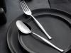 30 Pieces Elegant Simple Cutlery Set ( Knifeless ) - Silver