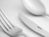 60 Pieces Akasya Plain Cutlery Set ( Knifeless ) - Silver