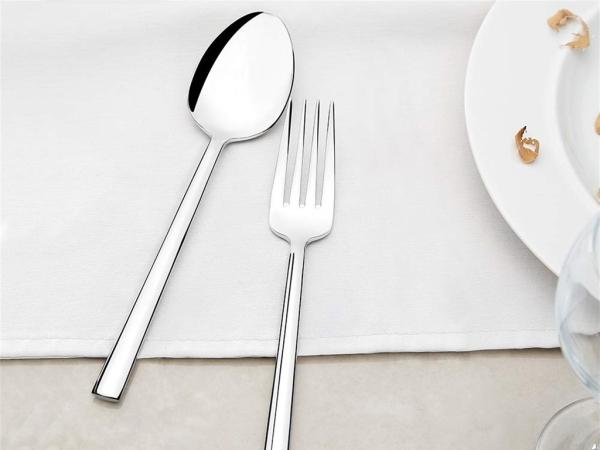30 Pieces Dalyan Plain Cutlery Set ( Knifeless )  - Silver