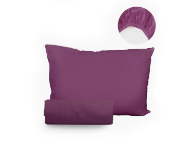 2 Pieces R29 Single Fitted Sheet Set 120 x 200 + 30 Cm - Plum