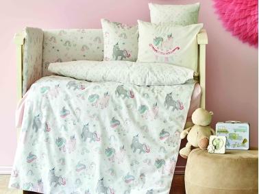 10 Pieces Digna Cotton Baby Sleep Set 100 x 150 cm - Pink
