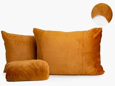 3 Pieces Welsoft Double Bed Sheet Set 180 x 200 cm + 30 cm - Desert